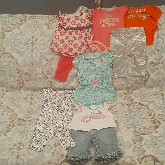 Bundle Of 6 Outfits 0-3 mos. Some NWOT